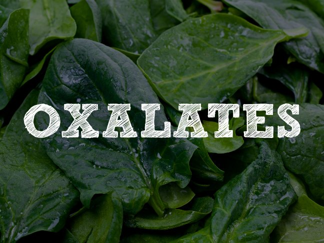 oxalates in spinach for baby